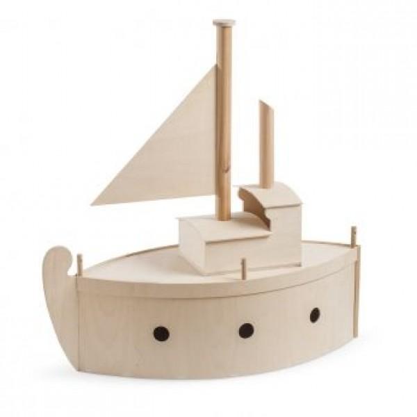 Κουτί Βάπτισης Αστόλιστο Καράβι