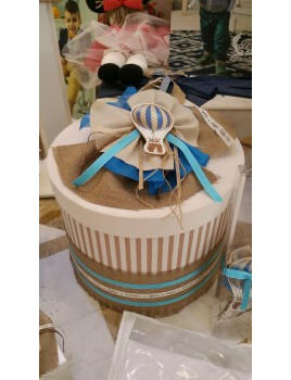 Κουτί Βάπτισης Καπελιέρα με Αερόστατο