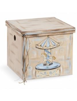 Κουτί βάπτισης Κύβος με Carousel