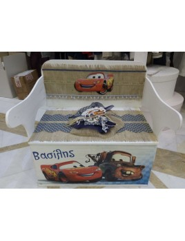Κουτί Βάπτισης Παγκάκι - Θρανίο με McQueen κωδ.8933