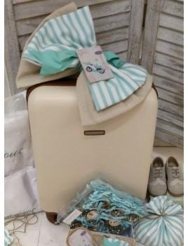 Κουτί Βάπτισης Πλαστική Βαλίτσα με Βέσπα κωδ.8950