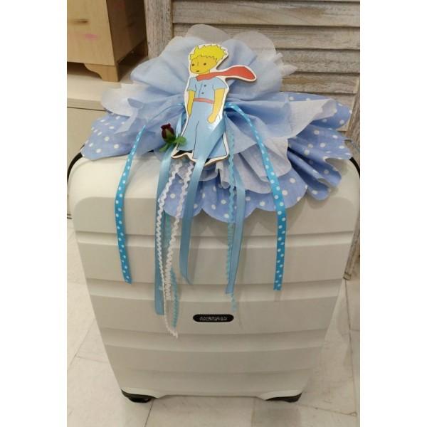 Κουτί Βάπτισης Πλαστική Βαλίτσα με Πρίγκιπας κωδ.8958