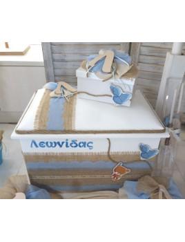 Κουτί Βάπτισης Σεντούκι με Αρκουδάκι, Αρχικό