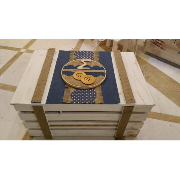Κουτί Βάπτισης Σεντούκι με Αρχικό κωδ.7525