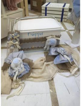 Κουτί Βάπτισης Σεντούκι με Ελέφαντα κωδ.7506