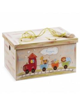 Κουτί βάπτισης Σεντούκι με Τρένο κωδ.6273