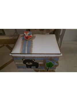 Κουτί Βάπτισης Σεντούκι με Ζωάκια, Safari κωδ.7563
