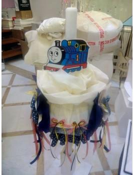 Λαμπάδα βάπτισης Κερί με Τρένο κωδ.6207
