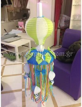 Λαμπάδα Κερί με Αερόστατο