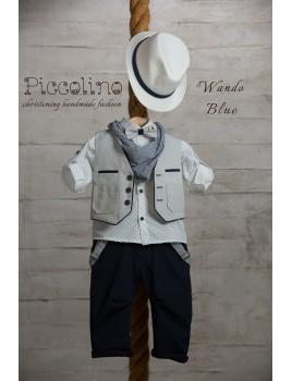 Κουστούμι Βάπτισης Piccolino AG19S02 WANDO BLUE