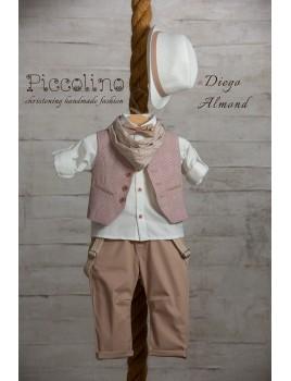 Piccolino Κουστούμι Βάπτισης AG19S06 DIEGO ALMOND