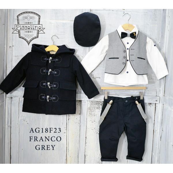 Piccolino Κουστούμι Βάπτισης AG18F23 FRANCO GREY