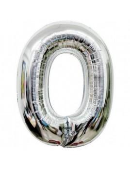 Μεταλλικό μπαλόνι αριθμός 0 (88x53cm)