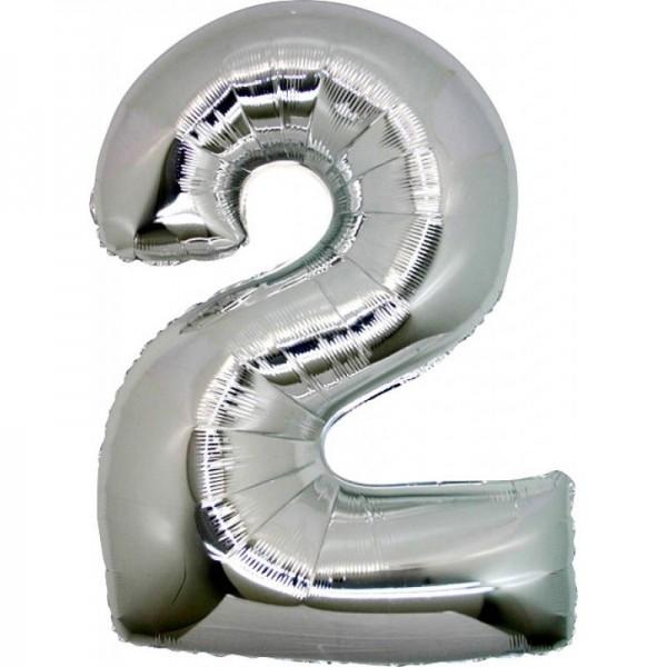 Μεταλλικό μπαλόνι αριθμός 2 (88x53cm)