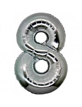 Μεταλλικό μπαλόνι αριθμός 8 (88x53cm)
