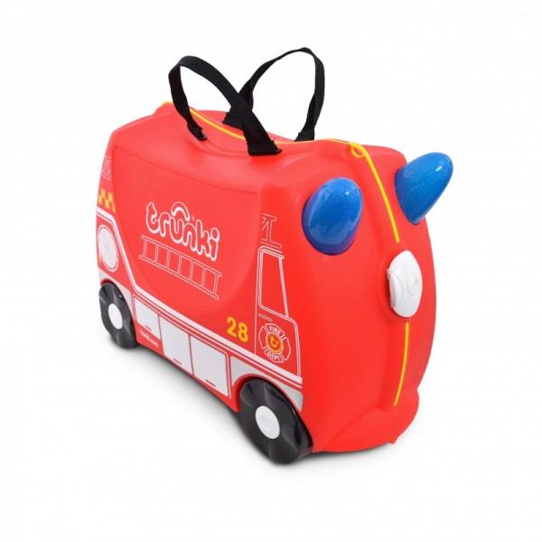 Trunki Frank Fire Truck Παιδική Βαλίτσα Ταξιδίου