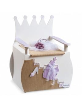 Κουτί βάπτισης Disney Παγκάκι με Cinderella