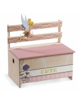 Κουτί βάπτισης Disney Παγκάκι με Tinkerbell