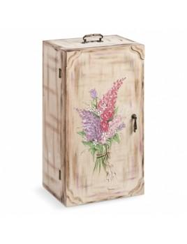 Κουτί βάπτισης Ντουλάπα με Λουλούδια κωδ.6317