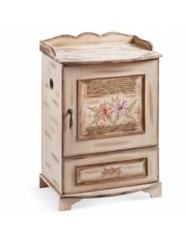 Κουτί βάπτισης Ντουλάπα με Λουλούδια κωδ.6320