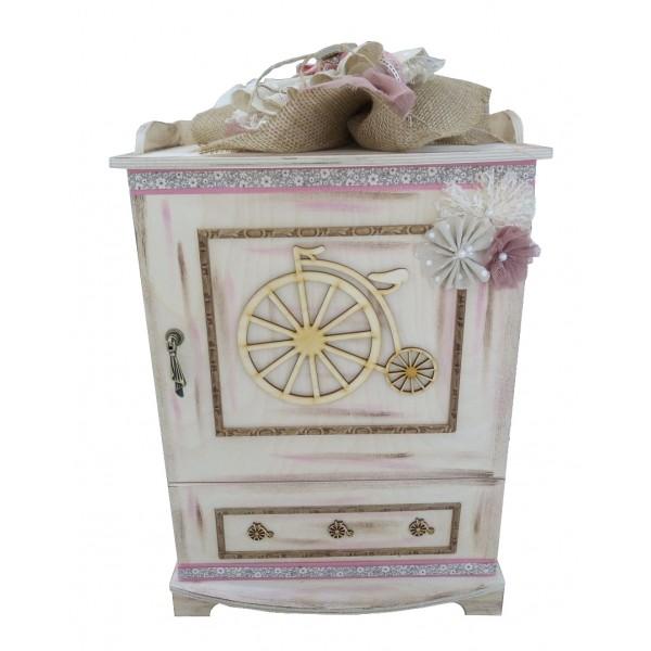 Κουτί Βάπτισης Ντουλάπα με Ποδήλατο κωδ.7832