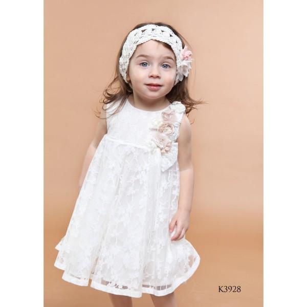 Mi Chiamo Φόρεμα Βάπτισης K3928-2