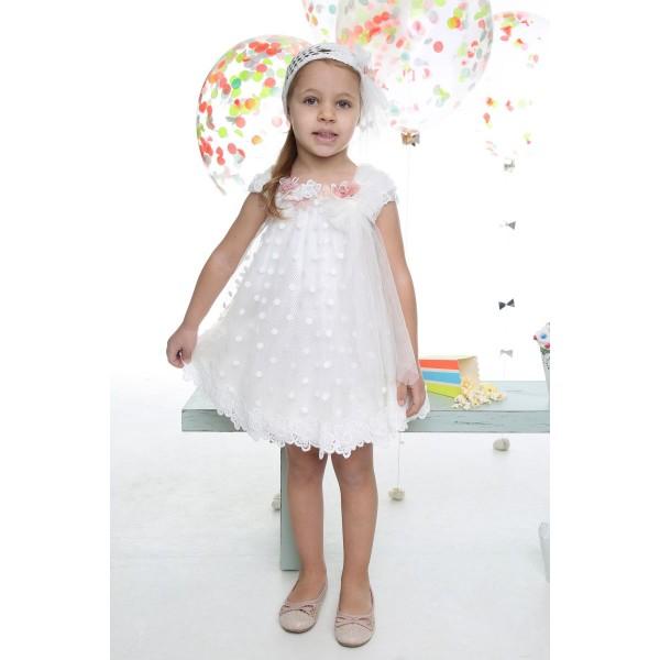 Mi Chiamo Φόρεμα Βάπτισης K-4029
