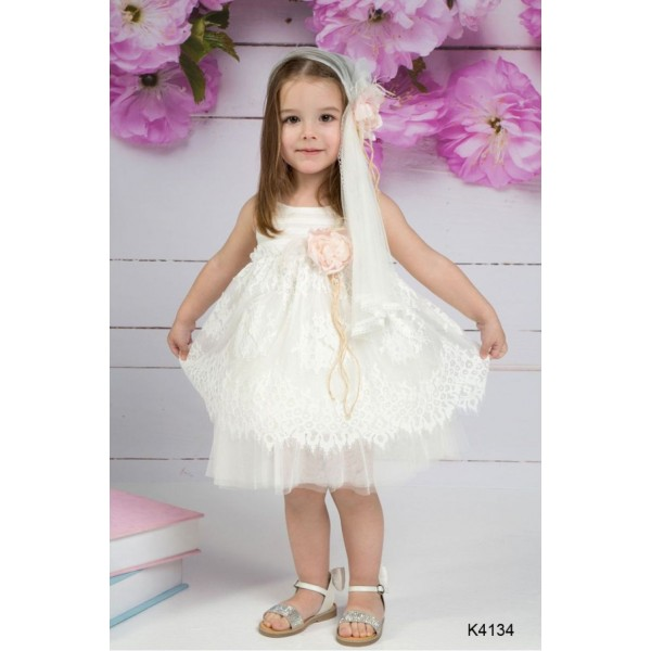 Mi Chiamo Φόρεμα Βάπτισης K4134-2