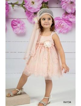 Mi Chiamo Φόρεμα Βάπτισης K4134-3