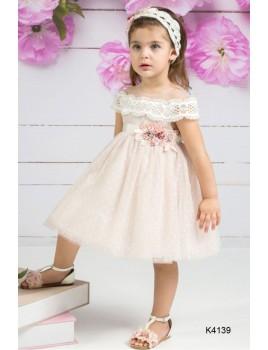 Φόρεμα Βάπτισης Mi Chiamo K4139-2