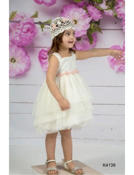 Mi Chiamo Φόρεμα Βάπτισης K4139-3