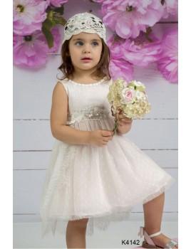 Mi Chiamo Φόρεμα Βάπτισης K4142-2