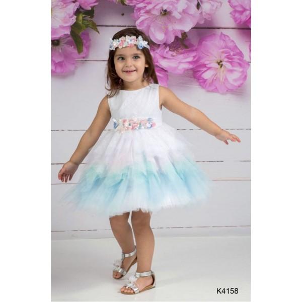 Mi Chiamo Φόρεμα Βάπτισης K4158-2