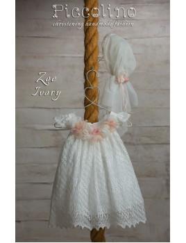 Piccolino Φόρεμα Βάπτισης DR19S01 ZOE IVORY