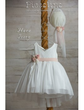 Piccolino Φόρεμα Βάπτισης DR19S03 HARA IVORY