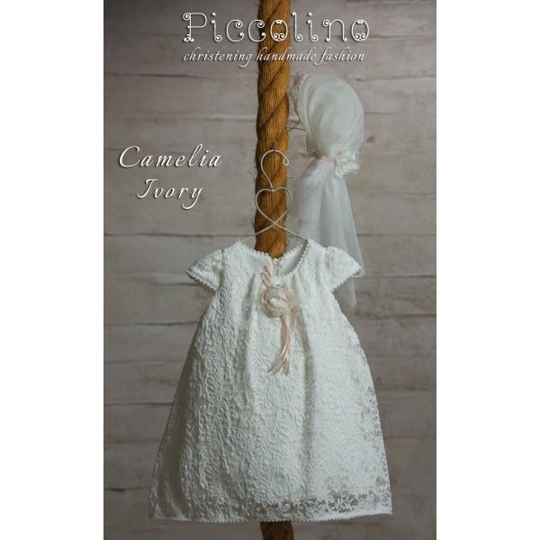 Piccolino Φόρεμα Βάπτισης DR19S06 CAMELIA IVORY
