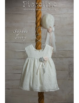 Piccolino Φόρεμα Βάπτισης DR19S10 SOPHIE IVORY