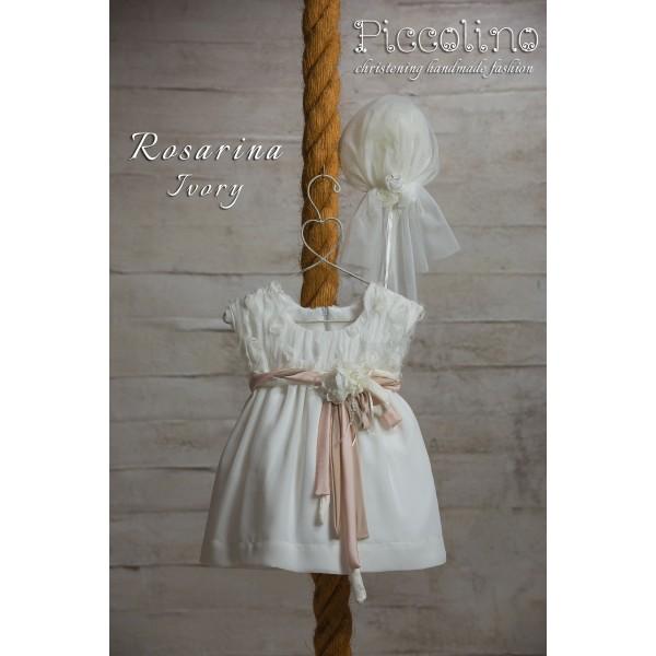 Piccolino Φόρεμα Βάπτισης DR19S12 ROSARINA IVORY