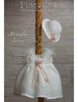Piccolino Φόρεμα Βάπτισης DR19S13 ARIADNE IVORY