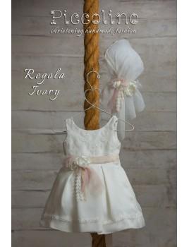 Piccolino Φόρεμα Βάπτισης DR19S14 REGOLA IVORY