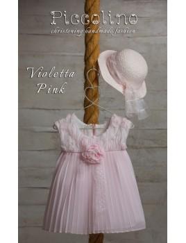 Piccolino Φόρεμα Βάπτισης DR19S15 VIOLETTA PINK