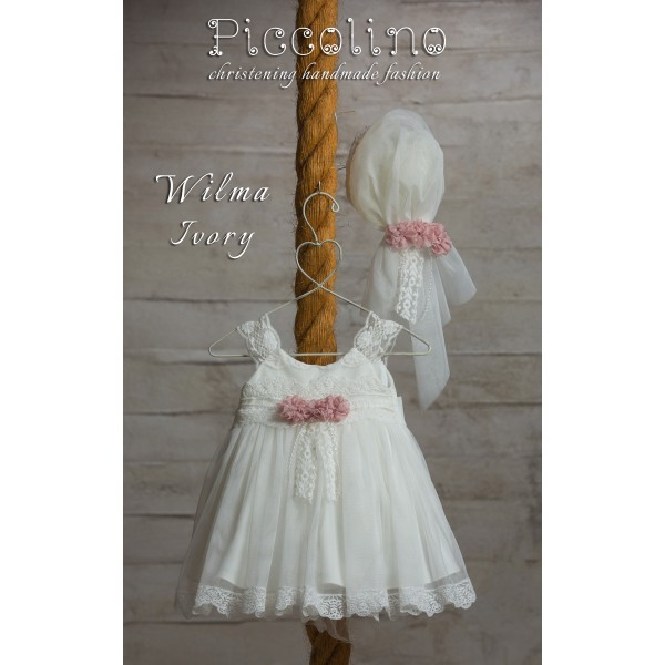 Piccolino Φόρεμα Βάπτισης DR19S16 WILMA IVORY