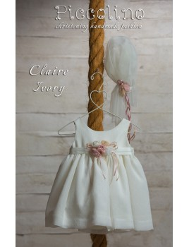 Piccolino Φόρεμα Βάπτισης DR19S18 CLAIRE IVORY