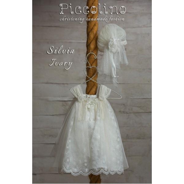 Piccolino Φόρεμα Βάπτισης DR19S22 SILVIA IVORY