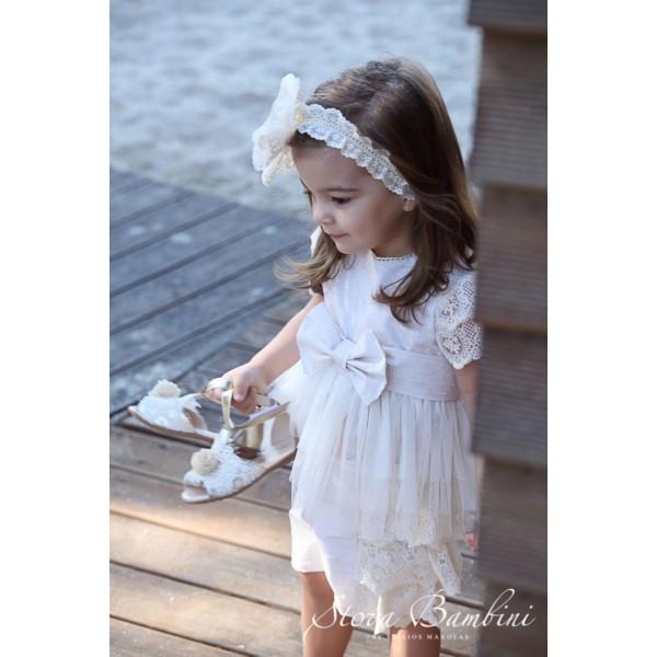 Stova Bambini Φόρεμα Βάπτισης G17