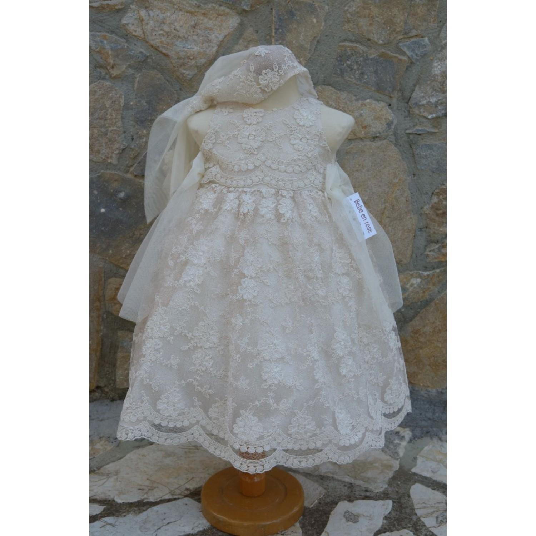 Φόρεμα Βάπτισης Bebe en Rose 64988 - Papillon eShop  e2c2065ba8e