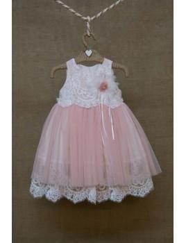 Φόρεμα Βάπτισης Bebe en Rose 73568