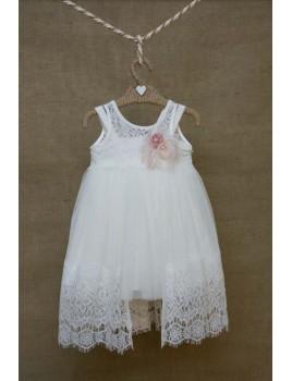 Φόρεμα Βάπτισης Bebe en Rose 81075