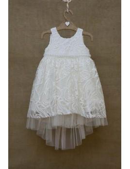 Φόρεμα Βάπτισης Bebe en Rose 81385