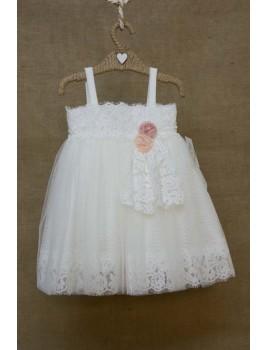Φόρεμα Βάπτισης Bebe en Rose 81555